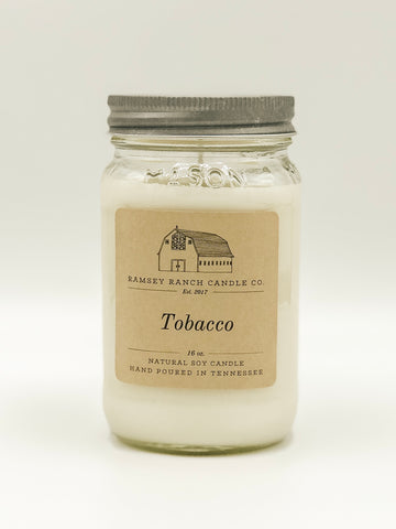 Tobacco 16 oz Mason Jar