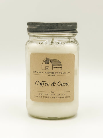 Coffee & Cane 16 oz Mason Jar