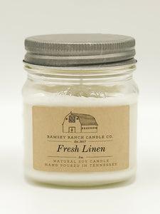 Fresh Linen 8 oz Mason Jar