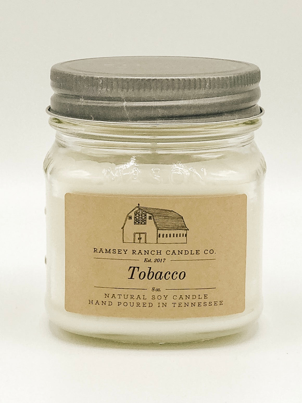 Tobacco 8 oz Mason Jar