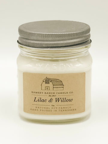 Lilac & Willow 8 oz Mason Jar