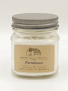 Farmhouse 8 oz Mason Jar