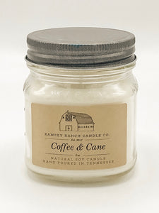 Coffee & Cane 8 oz Mason Jar