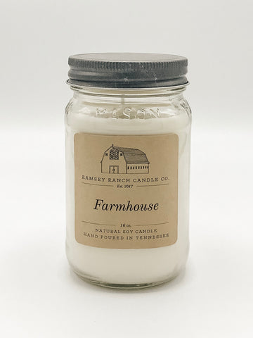 Farmhouse 16 oz Mason Jar