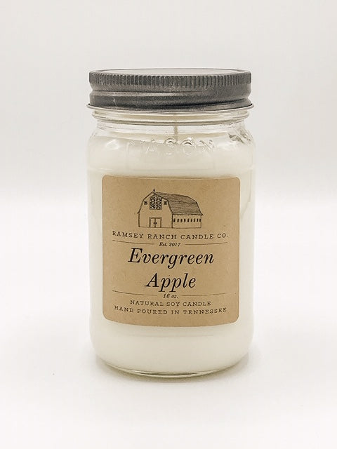 Evergreen Apple 16 oz Mason Jar
