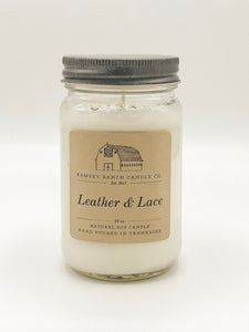 Leather & Lace 16 oz Mason Jar