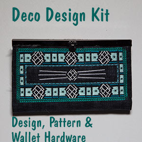 Wallet with Deco Embroidery
