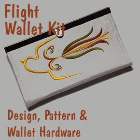 Wallet with Bird Design