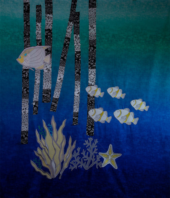 Underwater Dreams Fiber Art