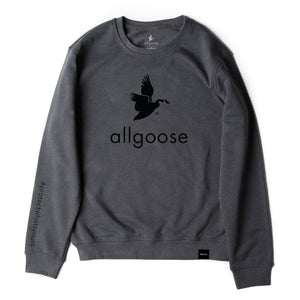 allgoose premium crewneck / dark grey