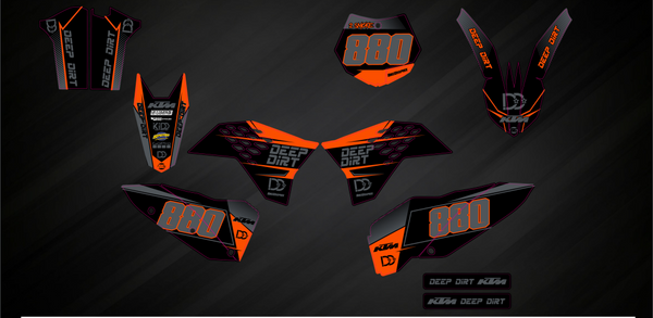 Stock DD graphic as orange and black