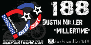 Deep Dirt Sponsor Rider Banner With Custom Options