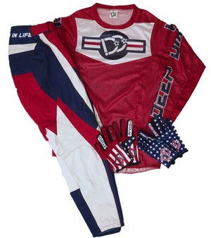 2021 Deep Dirt Mx Glove Freedom Stars