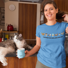 Cats N' Coffee Unisex T-Shirt/ 14 Colors To Choose