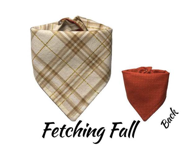 Plaid Dog Bandana, Fall Plaid Dog Bandana, Fall Dog Bandana, Hipster Dog Bandana