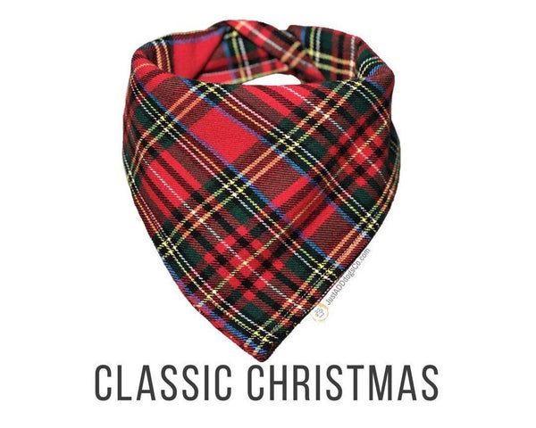 Plaid Flannel Dog Bandana, Red Tartan Plaid Dog Bandana, Flannel Dog Bandana, Plaid Dog Bandana, Christmas Dog Bandana, Winter Bandana