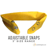 Reactive Give Me Space Yellow Dog Bandana, Do Not Pet, Reactive Dog Bandana, Yellow Dog Bandana, Yellow Dog Project