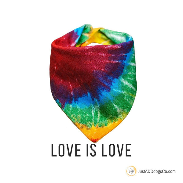 Gay Pride Dog Bandana, Pride Dog Bandana, LGBTQ Dog Bandana, Tie Dye Dog Bandana, Boston PrideDog Bandana, Love is Love Pride Bandana