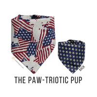 American Flag Dog Bandana, Red White and Blue Dog Bandana, 4th of July Patriotic Dog Bandana
