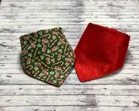 Candy Cane Glitter Dog Bandana, Christmas Candy Cane Dog Bandana, Red and Green Dog Bandana, Christmas Dog Bandana