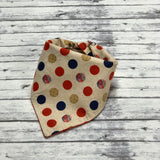 American Dog Bandana, Patriotic Dog Bandana, Red White and Blue, Vintage American, Classic American Dog Bandana
