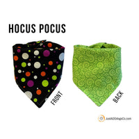 Hocus Pocus Halloween Dog Bandana, Halloween Stripes, Pumpkin Dog Bandana, Witch Dog Bandana, Trick or Treat Dog Bandana, Snap