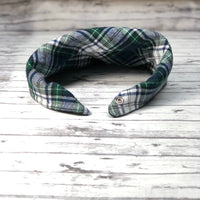 Green and Blue Scottish Plaid Flannel Dog Bandana, Scottish Plaid Dog Bandana, Plaid Dog Bandana, Christmas Dog Bandana, Winter Dog Bandana