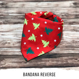 Christmas Dog Bandana, Red and Green Dog Bandana, Elf Dog Bandana, Christmas Tree Dog Bandana, Holiday Dog Bandana