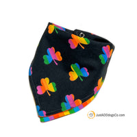 Rainbow Shamrock Dog Bandana, LGBTQ Dog Bandana, Irish Pride Dog Bandana, Boston Pride Dog Bandana, Love is Love Pride Bandana