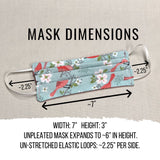 Set of Cloth Face Masks with Filter Pocket, Reusable Washable Fabric Face Masks, Double Layer Cotton Face Mask with Elastic Ear Loops