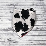 Cow Print Dog Bandana, Black and White Cow Print Dog Bandana, Animal Print Dog Bandana
