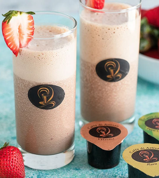 Strawberry Banana Coffee Smoothie