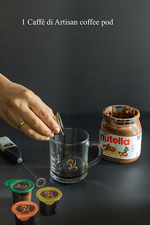 Nutella Hot Coffee step 1