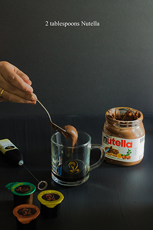 Nutella Hot Coffee step 2