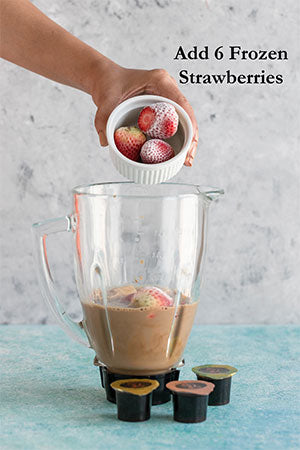 Strawberry Banana Coffee Smoothie step 4