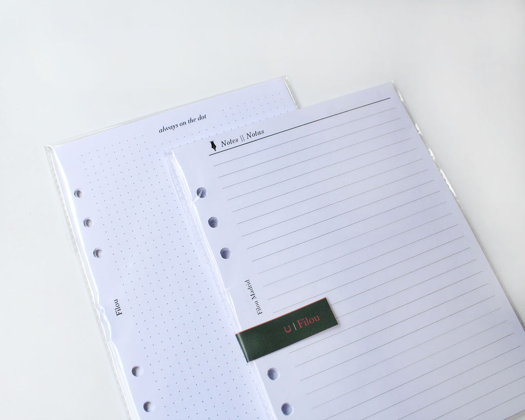 Box ESSENTIALS with inserts for A5 planner or agenda
