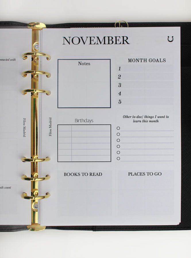 Planner insert Weekly view - Vertical format
