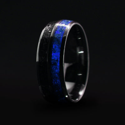 Meteorite Glow Wedding Band