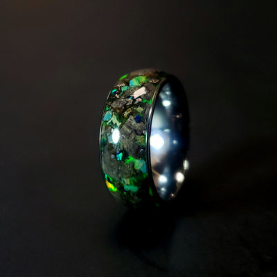 Stegosaurus Green Glow Ring