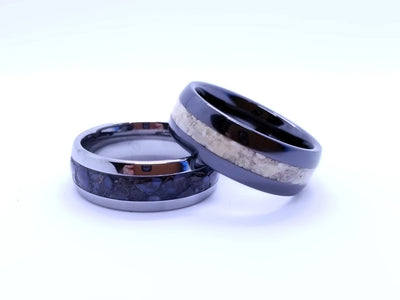 Dinosaur Fossil Wedding Bands