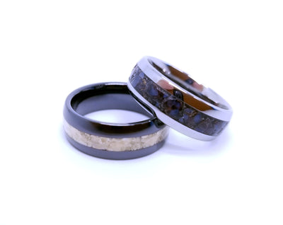 Dinosaur Fossil Wedding Band