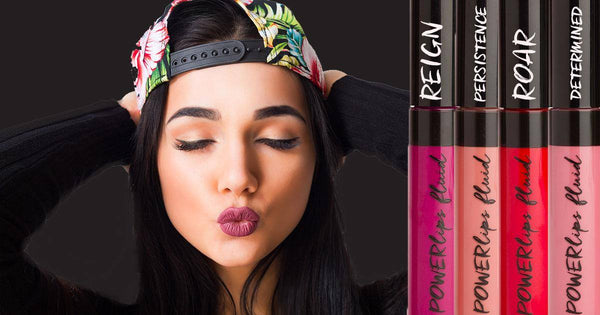 Sport that perfect pout with the right blend of color and softness with PowerLips Fluid