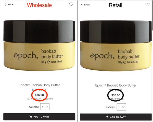 Epoch Baobab Body Butter Wholesale