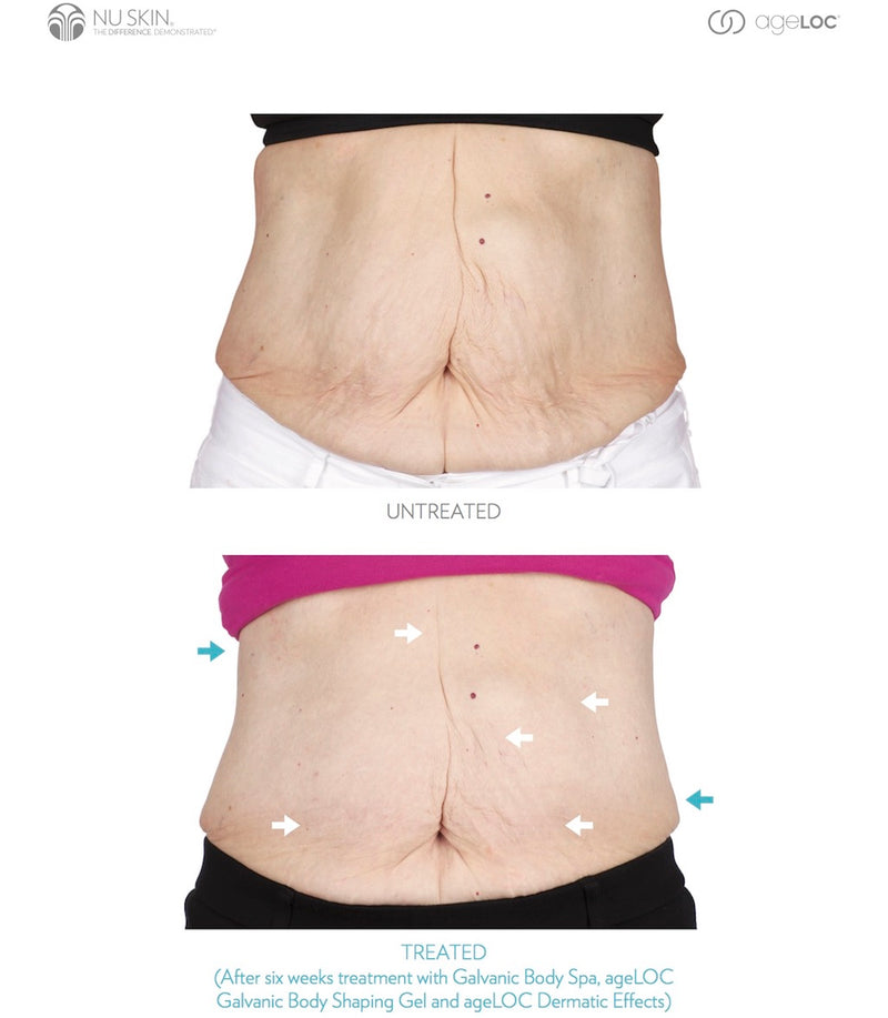 Nu Skin ageLOC Galvanic Body Spa before after results - Beauty Hardy