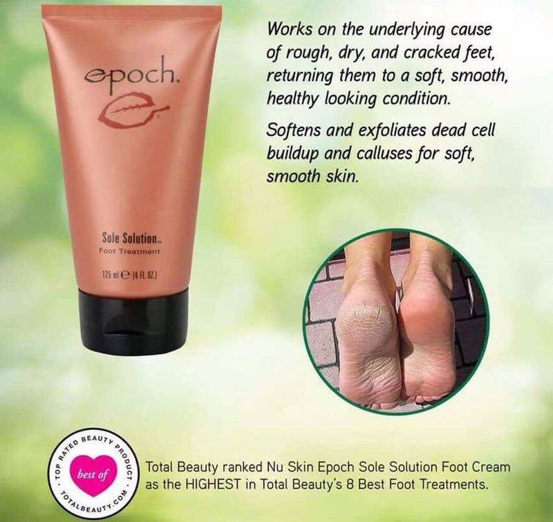 Epoch Sole Solution relieves rough, dry and cracked feet. - Beauty Hardy