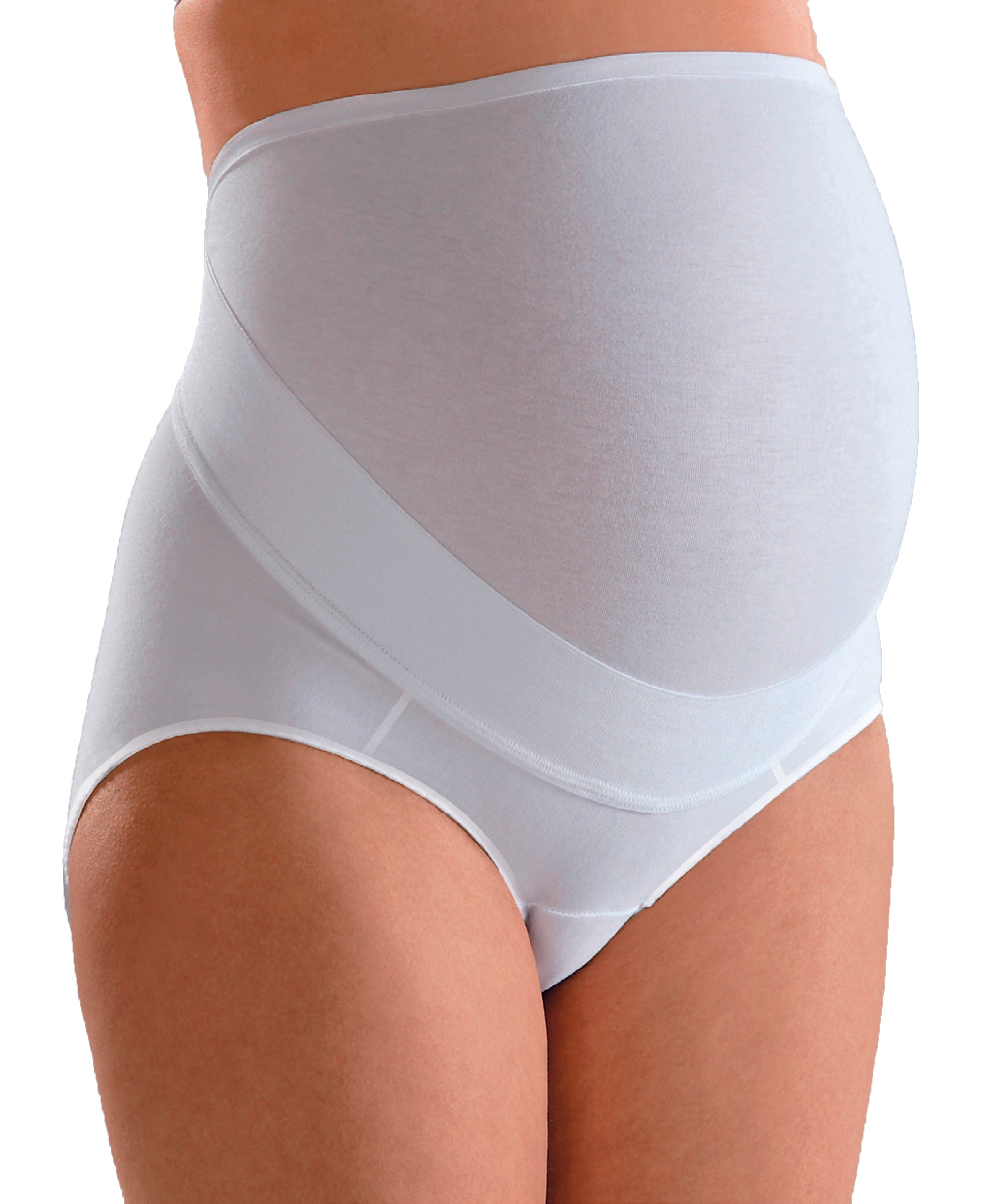 White Over Belly Maternity Brief 80508