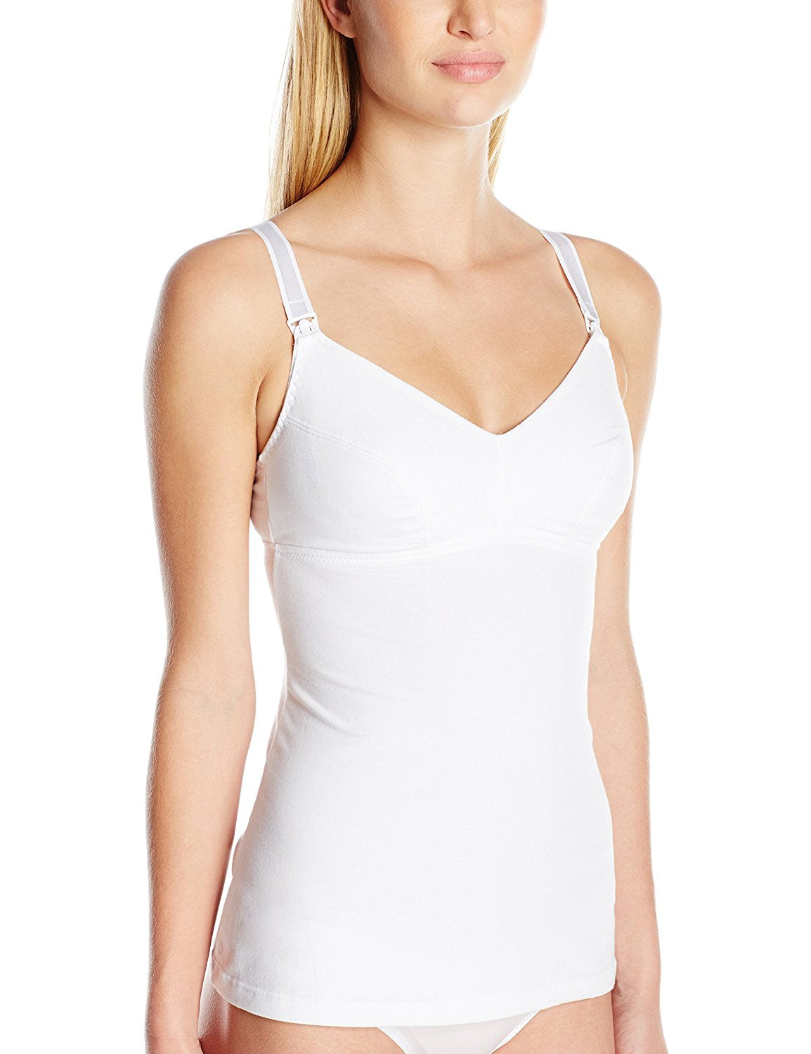86976 - Maternity nursing camisole in white