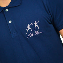 Load image into Gallery viewer, ICONIC FENCING POLO Navy 2 Fencers