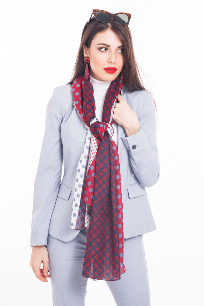 LONG PRINTED SCARF PATCHWORK