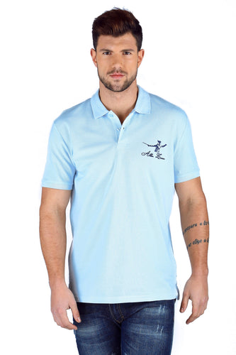 ICONIC FENCING POLO Baby Blue 1 Fencer